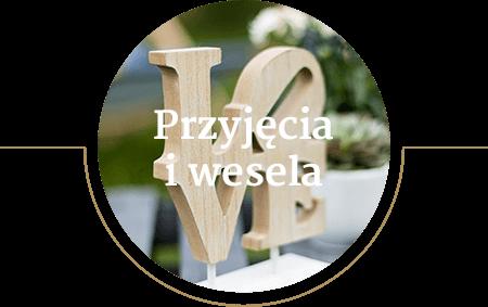 Ikona wizualizująca organizację przyjęć i wesel przy wykorzystaniu prosecco vana